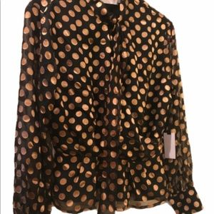ASTR polka dot blouse/top